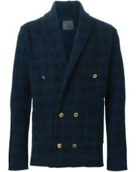 Laneus - Blue Double Breasted Blazer for Men - Lyst