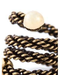 Lanvin - Metallic Woven Ring - Lyst
