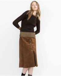 Zara | Brown Knit Sweater | Lyst