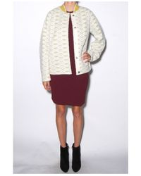 O'2nd - White Lace Bonded Jacket - Lyst