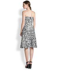 Jil Sander - Black Risiko Printed Strapless Dress - Lyst