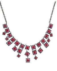 Larkspur & Hawk - Red Silver Amethyst Bella Front Centre Necklace - Lyst