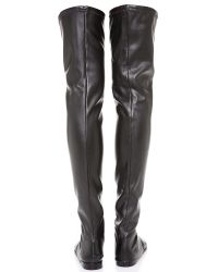 Tibi | Black Thea Convertible Over The Knee Boots | Lyst