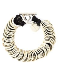 Ann Demeulemeester - Black Multi-ring Bracelet - Lyst