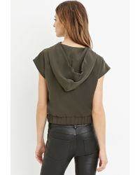 Forever 21   Green Contemporary Drawstring Hood Top   Lyst