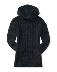 Aéropostale | Gray Hooded Sweater Tunic | Lyst