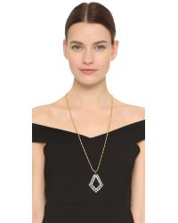 Elizabeth Cole | Metallic Open Crystal Pendant Necklace | Lyst