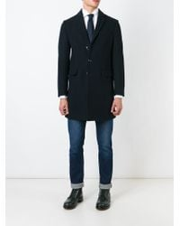 DSquared² | Blue Classic Coat for Men | Lyst