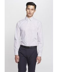 Ferragamo - White Trim Fit Gancini Print Sport Shirt for Men - Lyst