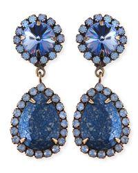DANNIJO   Monaco Light Blue & Crystal Statement Earrings   Lyst