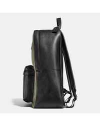 COACH - Black Campus Backpack In Colorblock Refined Pebble Leather for Men - Lyst