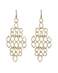 Alexis Bittar | Metallic Liquid Gold Barbed Diamond Earrings | Lyst