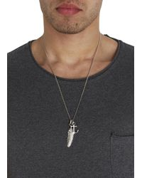 Simon Carter | Metallic Platinum Plated Necklace for Men | Lyst
