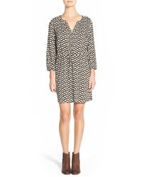 Ace Delivery | Green Print Henley Shirtdress | Lyst
