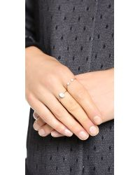 Ginette NY - Metallic Single Diamond Choker Ring - Lyst