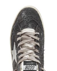 Golden Goose Deluxe Brand - Purple Midstar Suede and Leather Mid-Top Sneakers - Lyst