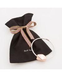 Paul Smith | Metallic Women's Silver Bracelet With Copper Facet Bead | Lyst