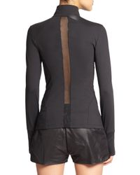 Heroine Sport - Black Brushed Tech Jersey Studio Jacket - Lyst