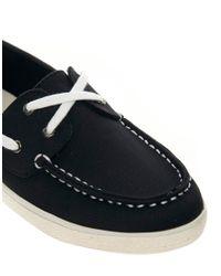 ALDO | Black Vidalez Flat Boat Shoe | Lyst
