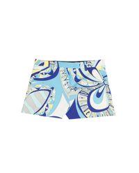 Emilio Pucci - Blue Printed Shorts - Lyst