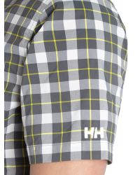 Helly Hansen - Black Jotun Nordic Check Short Sleeve Shirt for Men - Lyst