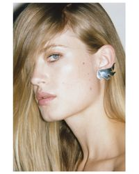 Saskia Diez | Metallic Mighty Flames Earrings | Lyst