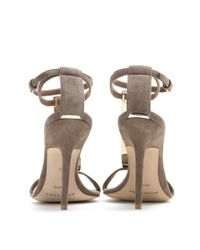 Burberry Prorsum - Gray Irving Suede Sandals - Lyst