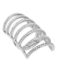 Michael Kors | Metallic Pavé Cage Ring | Lyst