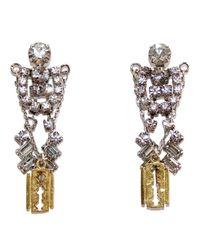 Tom Binns | Metallic Crystal Razor Blade Earrings | Lyst
