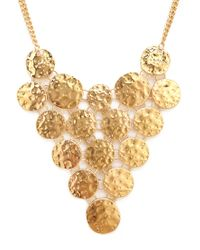 Forever 21 | Metallic Hammered Coin Bib Necklace | Lyst