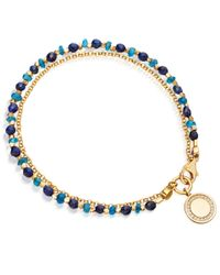 Astley Clarke - Metallic Gold-plated Lapis Cosmos Biography Diamond Bracelet - Lyst