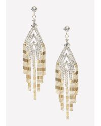 Bebe | Metallic Crystal & Bead Earrings | Lyst