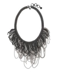 Kendra Scott - Metallic 'mystic Bazaar - Margot' Chain Bib Necklace - Gunmetal Rhodium - Lyst