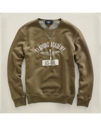 RRL | Natural Training Academy Sweatshirt for Men | Lyst