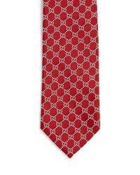 Gucci | Blue Interlocking G Pattern Tie for Men | Lyst