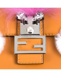 Fendi - Orange Micro Baguette - Lyst