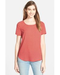 Pleione | Red Geometric-Print T-Shirt | Lyst
