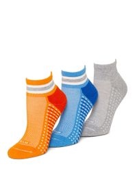 Hue | Blue Air Cushion Sport Quarter Top Socks | Lyst