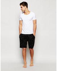 ASOS - Black Loungewear Shorts In Inject Slub Fabric for Men - Lyst