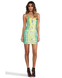 Indah - Multicolor Bait Fully Sequined Tank Dress - Lyst
