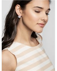 BaubleBar | White Rose Bar 360 Studs | Lyst