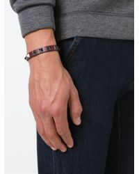 Valentino - Red 'Rockstud' Bracelet for Men - Lyst