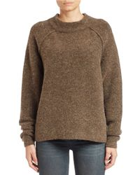 Free People | Brown Long-sleeve Crewneck Sweater | Lyst
