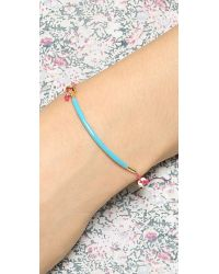 Marc By Marc Jacobs - Blue Enamel Dipped Friendship Bracelet Blackgrapefruit Zest - Lyst
