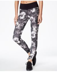 Betsey Johnson | Black Rose-print Leggings | Lyst