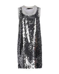 Love Moschino   Metallic Short Dress   Lyst