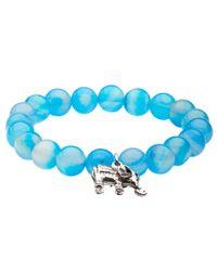 Aéropostale | Blue Creativity Power Bead Stretch Bracelet | Lyst