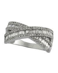 Effy | Metallic Diamond And 14k White Gold Crossover Ring, 0.95 Tcw | Lyst