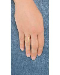 Campbell - Metallic Tall Grass Ring Gold - Lyst