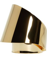 Chloé | Metallic Gold Mirrored Double_faced Erika Cuff | Lyst